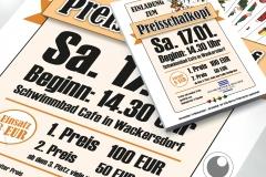 Flyer und Plakat für Preisschafkopf-Veranstaltung
